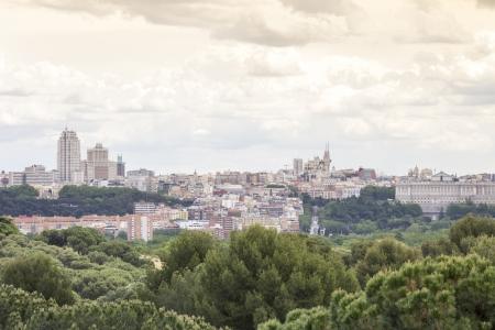 Madrid skyline with a dramatic sky Stock Photo - 23045702