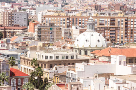 overpopulation: Panorama of Cartagena, Murcia Province, Spain Stock Photo