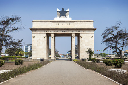 Independence Arch commemorates freedom of Ghanians from British Empire