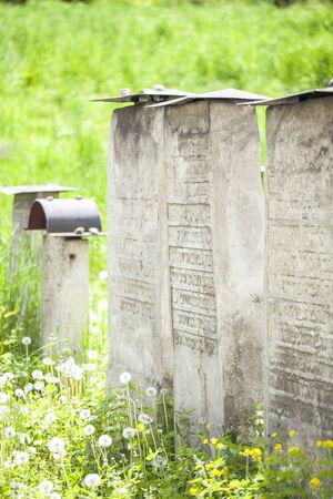 The Remuh Cemetery in Jewish Disctict in Krakow Kazimierz photo