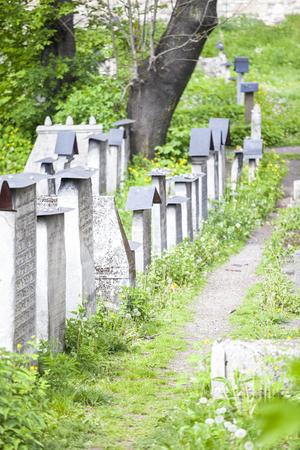 remuh: The Remuh Cemetery in Jewish Disctict in Krakow Kazimierz
