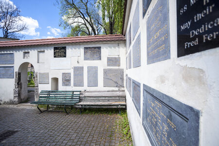 The Remuh Cemetery in Jewish Disctict in Krakow Kazimierz