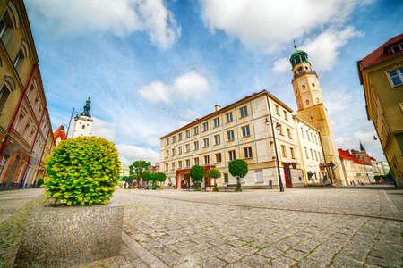 dolnoslaskie: City Centre  of Olesnica, Dolnoslaskie Province, Poland