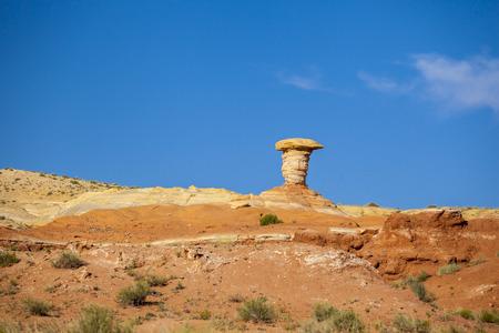 hoodoo: Hoodoo formation at Goblin State Park, Utah, USA