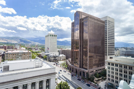 Panorama of Salt Lake City, Utah, USA Stock Photo - 30428344