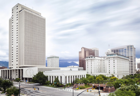 Panorama of Salt Lake City, Utah, USA photo