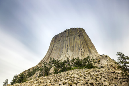 monolith: The Devils Tower National Monument, Wyoming, USA Stock Photo