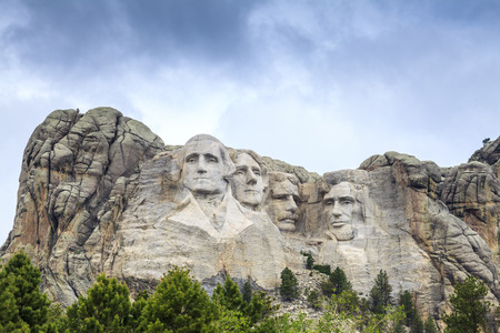 Presidents of Mount Rushmore National Monument, South Dakota, USA Editorial