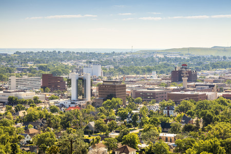 Panorama of Rapid City, South Dakota, USA 免版税图像