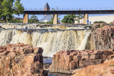 sioux: Beauty of nature in Sioux Falls, South Dakota, USA Editorial