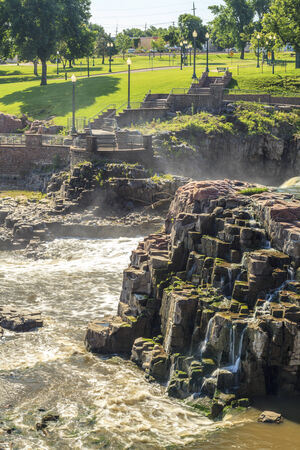 sioux: Beauty of nature in Sioux Falls, South Dakota, USA Stock Photo
