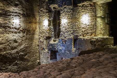 The underground trail In the Footsteps of Krakows European Identity under the Krakow Main Market Square introduces the atmosphere of the medieval city.