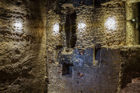 introduces: The underground trail In the Footsteps of Krak?w?s European Identity under the Krakow Main Market Square introduces the atmosphere of the medieval city.