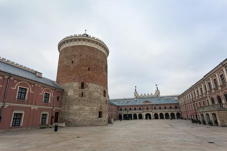 lublin: Beautiful Lublin Castle courtyard, Poland Editorial