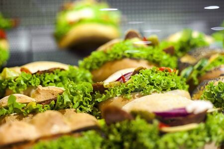 Tasty healthy sandwiches ready to consume