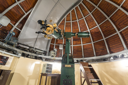 Histrorical astronomy telescope in an astronomical observatory.