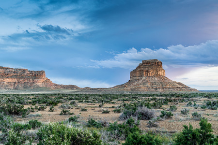 anasazi: Fajada Butte in Chaco Culture National Historical Park, New Mexico, USA Stock Photo