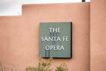 fe: The opera house sign  in Santa Fe New Mexico USA