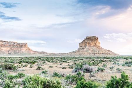 anasazi: Fajada Butte in Chaco Culture National Historical Park, New Mexico, USA Stock Photo