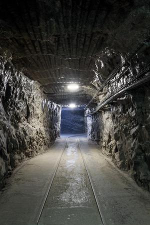 tunneling: Underground mine tunnel in famous Wieliczka Salt Mine, Poland