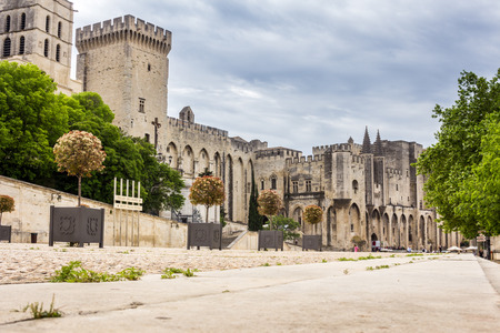 colossal: Construction of the celebrated Popes Palace, a fortified palace of a colossal spread, began in 1335, under the pontificate of Benoit XII. now available for tourists. Editorial