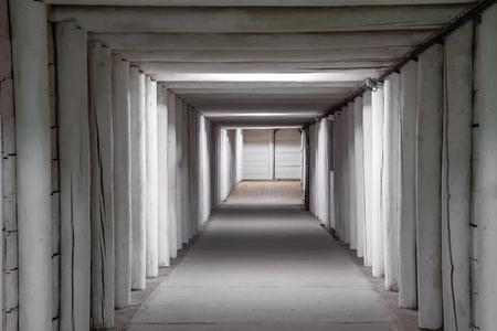 salt mine: Underground mine tunnel in famous Wieliczka Salt Mine, Poland