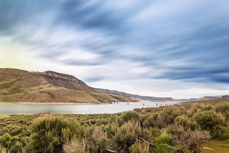 mesa: Blue Mesa Reservoir on Gunnison River, Colorado, USA Stock Photo