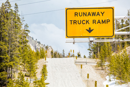 ramp: Runaway Truck Ramp Road Sign