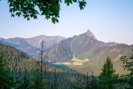 giewont: Giewont Peak in Tatra Mountains on the other side than Zakopane