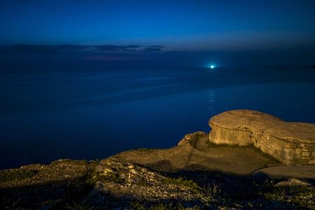 bunker: Old bunker in Rovinj on Croatia coast, Istrian Peninsula.