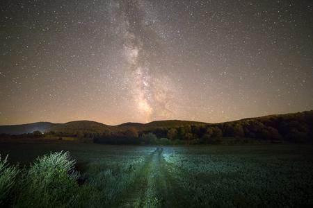 Milky way and green way in Croatia, Europe
