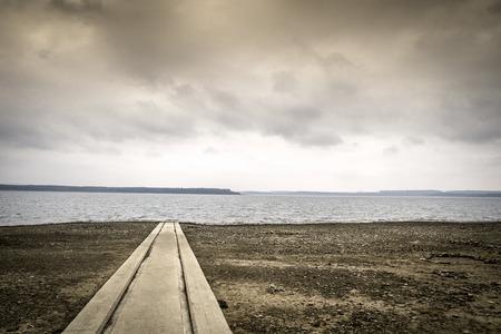 noble: Noble landscape of boat lauch ramp on Oravska Lake, Slovakia