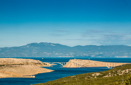krk: Bridge leading to Krk island, Croatia, Europe