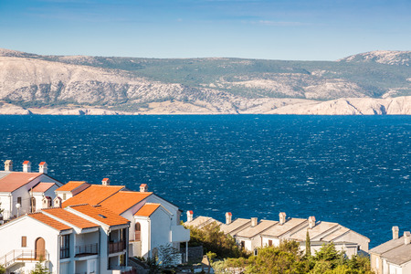 krk: Village on croatian coast opposite to Krk island