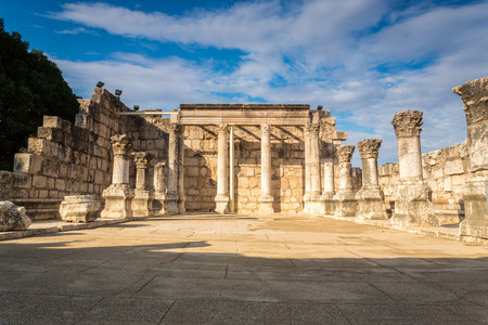 Synagogue in Jesus Town of Capernaum, Israel