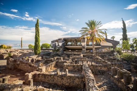 Peter's House among other ruins of Jesus Town - Capernaum, Israel