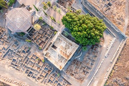 jewish houses: Aerial view of Capernaum, Town of Jesus, Galilee, Israel