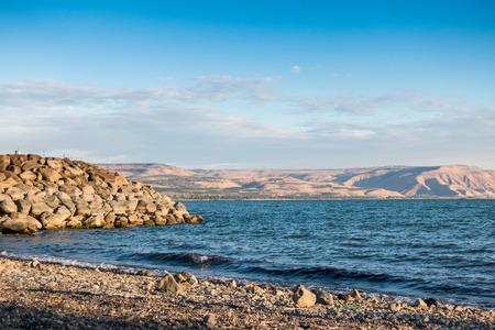 Sea of Galilee taken from north part near Capernaum, Israel
