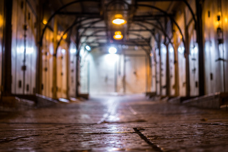 nazareth: Arabic market closed at night, Nazareth, Israel