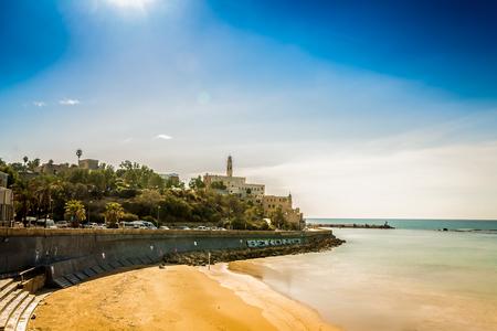 yafo: Seaside in Yafo at sunny day, Israel