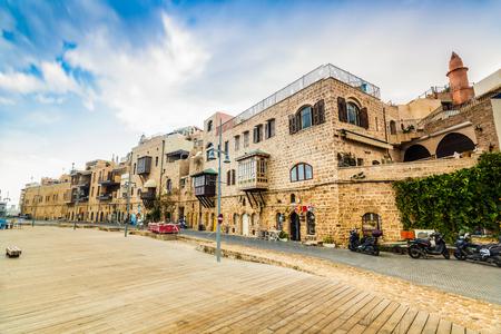 yaffo: Old port buildings in Yafo- Tel Aviv, Israel Stock Photo