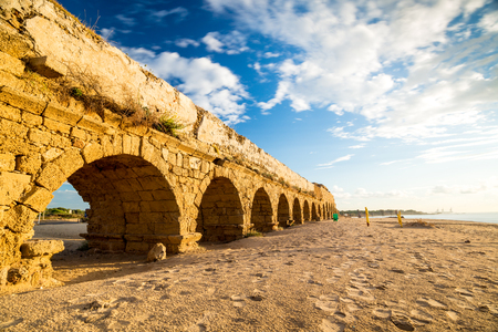Ruins of ancient Cesarea built by Herod, Israel
