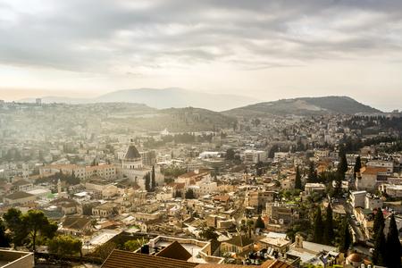 ナザレ、イスラエル共和国の他の建物の中で Announciation の大聖堂。 写真素材