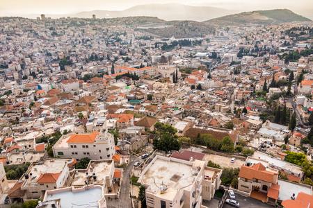 nazareth: Panorama of Nazareth with Basilica of Annunciation, Galilee, Israel