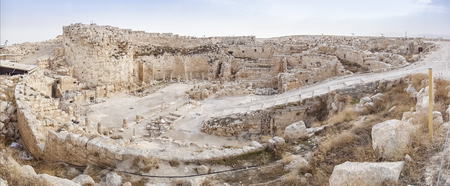 hill of the king: Big fortress of Herod the Great called Herodium, Israel