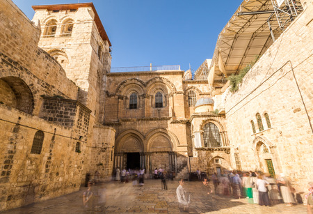dolorosa: Church of the Holy Sepulchre in Jerusalem, Israel Stock Photo