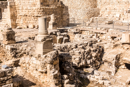 bethesda: Remains of Bethesda Pool in Jerusalem, Israel Stock Photo
