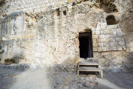 Golghota bekend als Garden Tomb, Jeruzalem, Israël, Midden-Oosten