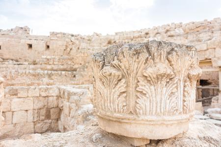 judean hills: Head of the column in Herodyon National Park, Palestinian Autonomy