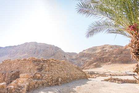 excavations: Excavations in Qumran, where Essenes hide scrolls with the Bible, Israel